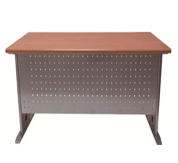 Perforated Office Table in HPL woodgrain...