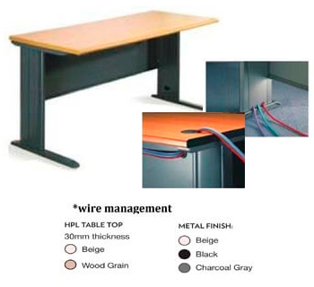 Office Table in HPL woodgrain laminated table...