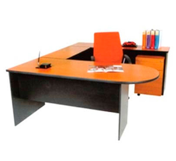UT150 - U-Shape Freestanding Table in HPL Laminated...