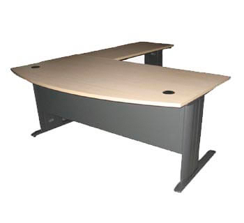 D-Shape Freestanding Table in HPL Laminated...